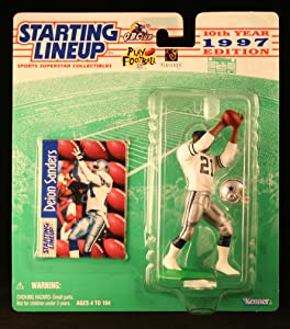 Starting Lineup DEION SANDERS / DALLAS COWBOYS 1997 NFL Action Figure & Exclusive NFL Collector Trading Card