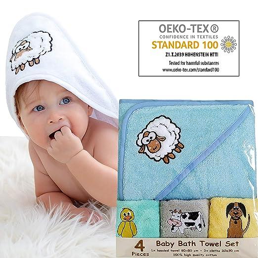 Bisoo - Babyhandtuch - Baby-Badetuch - Set für Neugeborene