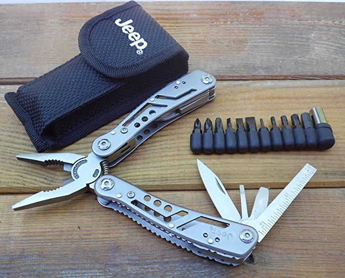 Multiherramienta Alicate multifuncional 9 en 1 - 16,8 cm - Accesorio Jeep - herramienta multiuso: Amazon.es: Bricolaje y herramientas