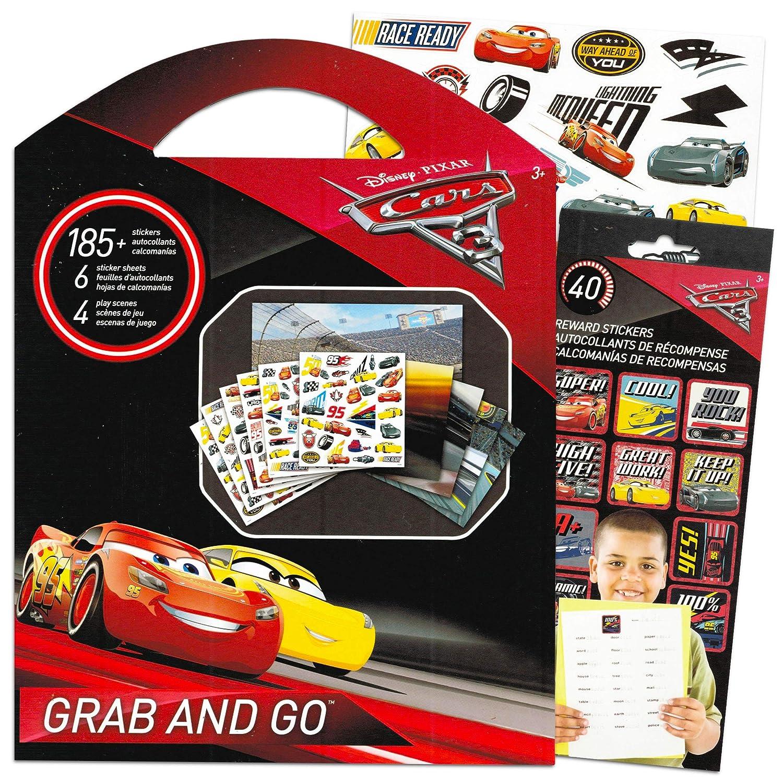 Disney Cars Stickers Set ~ Bundle Includes Sticker Travel Set Disney Pixar Cars Party Supplies Over 225 Reward Stickers