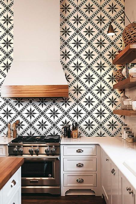 Etonnant Moroc Floral Tile Stencil   Boho Flower Wall Pattern Or Floor Design    Custom Painted Floor