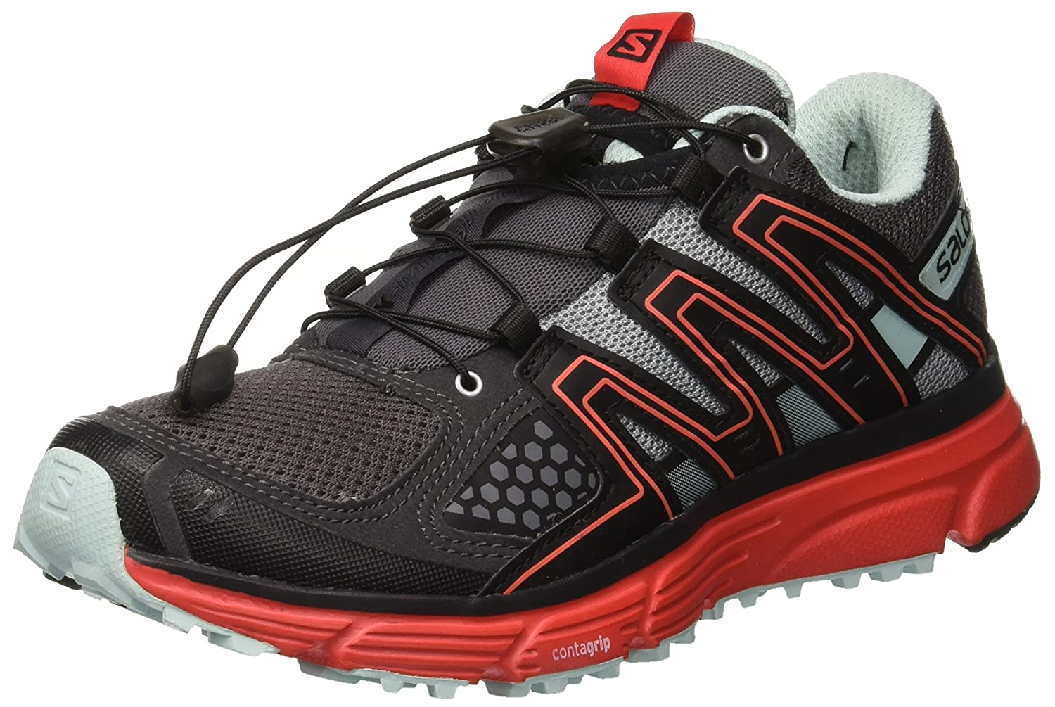 Salomon Women's X-Mission 3 W-w B078SYZF9Y 5 M US|Magnet/Black/Poppy Red