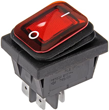 amazon com dorman 84824 waterproof rocker switch automotive Dorman Light Bar Rocker Switch Wiring Diagram
