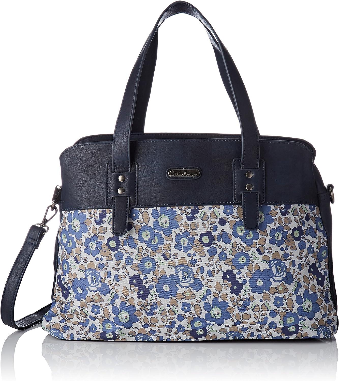 Little Marcel femme Qu11-lm-flower Cabas Bleu Flower