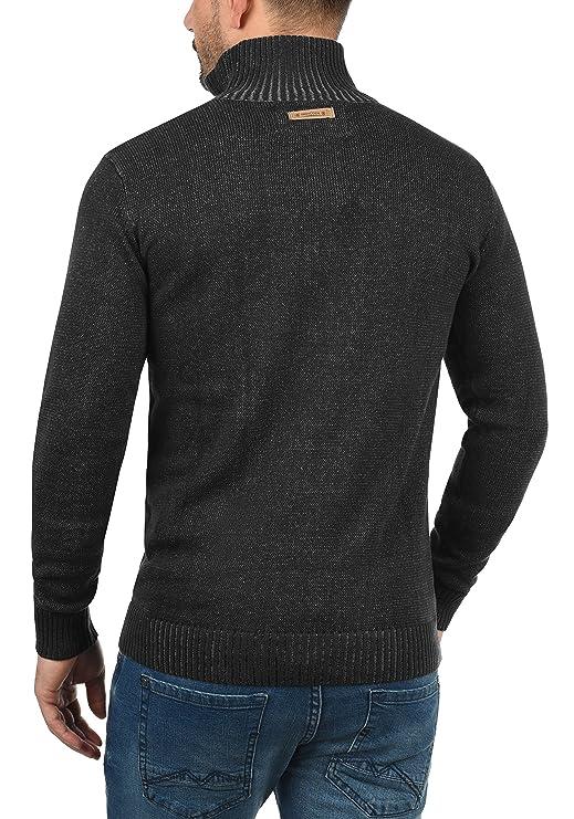 Indicode Felipe Herren Strickpullover Troyer Feinstrick Pullover Mit  Stehkragen Und Knopfleiste: Amazon.de: Bekleidung