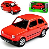 Modellauto Fiat 126 126p Bambino von Welly rot