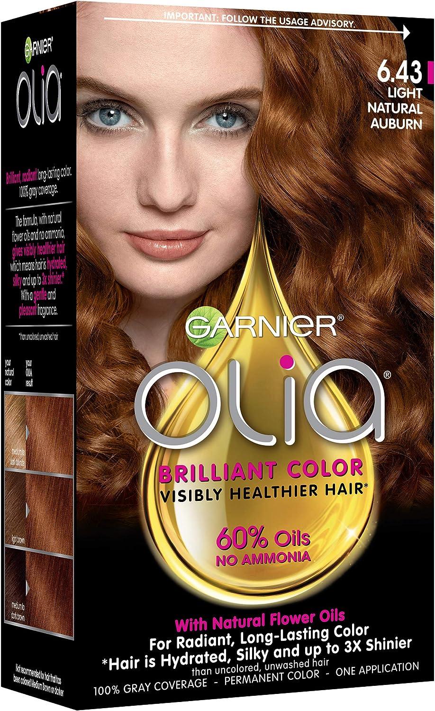 Garnier Olia Oil Powered Permanent Haircolor, 6.43 Light ...