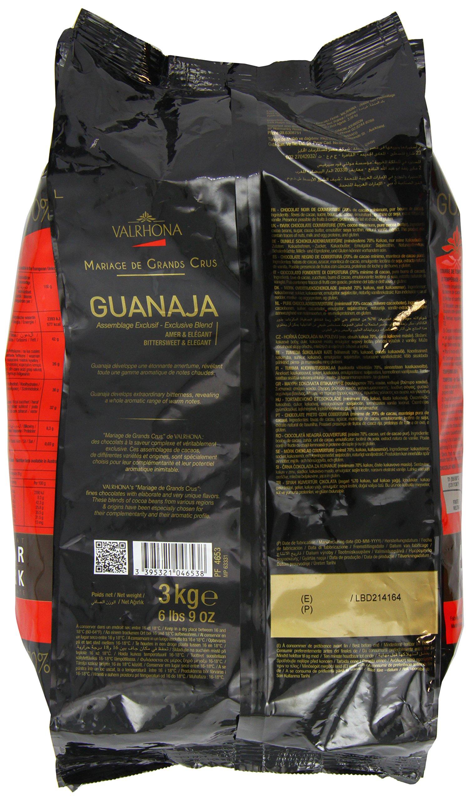 Valrhona Dark Chocolate - 70% Cacao - Guanaja - 6 lbs 9 oz bag of feves by Valrhona (Image #4)