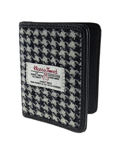 853ff54a3c12 Harris Tweed Card Holder Wallet LB2006 (Black Dogtooth COL29 ...