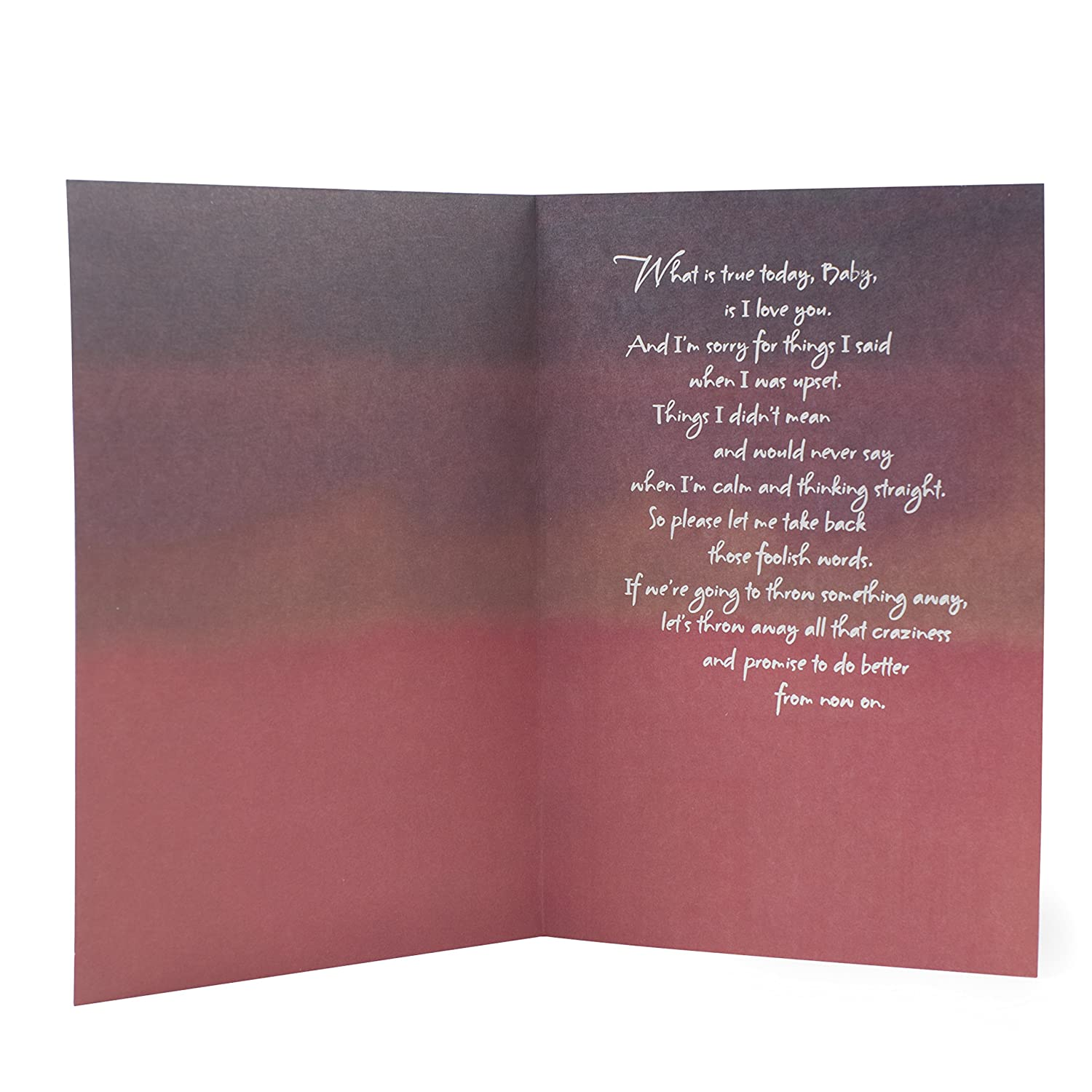 Amazon Hallmark Mahogany Love Greeting Card Im Sorry