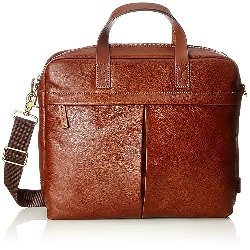 e428b64423 Fossil Herrentasche ? Buckner Brief, Men's Laptop Bag, Brown (Cognac), 7.62