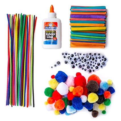 Amazon Com Chenille Stems Pipe Cleaners Pom Poms Craft