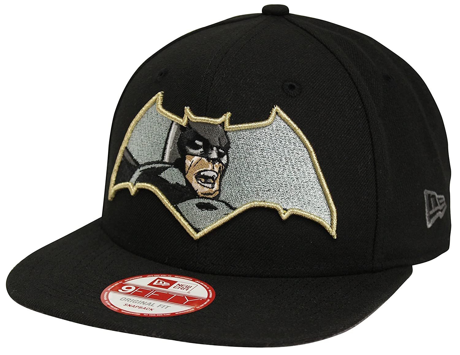 Amazon.com  New Era 9Fifty Retroflect Batman Black Snapback BVS Dawn of  Justice  Clothing df1c2a51ab36