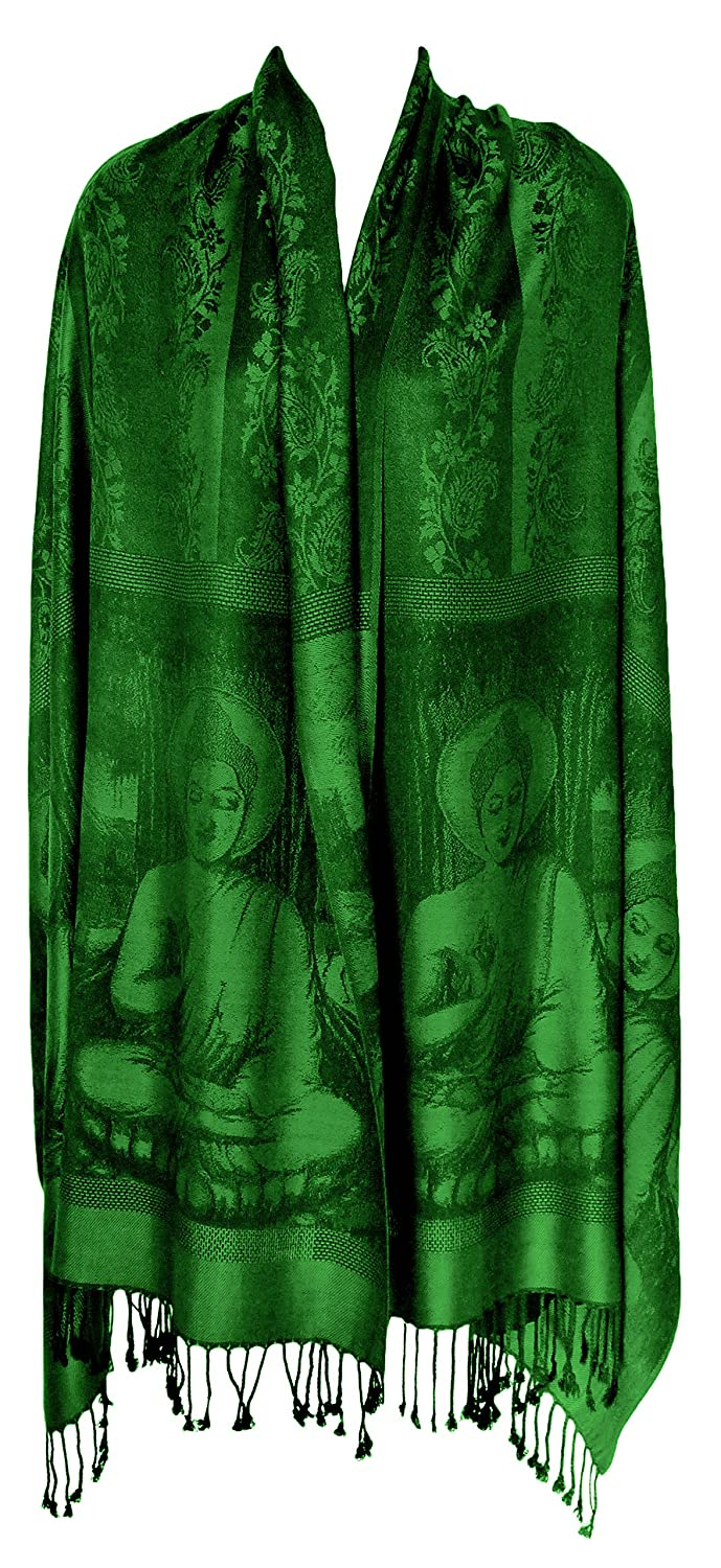 Buddha Meditation Prayer Shawl Yoga Wrap Cover (Green)