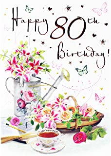 Happy 80th birthday greeting card ladies quality verse luxury friend happy 80th birthday greeting card for ladies her age hallmark verse milestone m4hsunfo