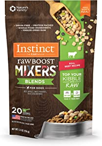 Instinct Freeze Dried Raw Boost Mixers Blends Grain Free Recipe All Natural Dog Food Toppers