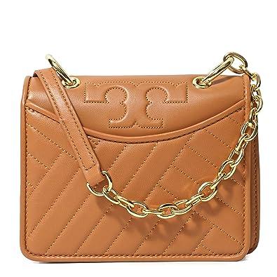 ff1850f778f Tory Burch Alexa Mini Shoulder Bag Crossbody Leather Chain (Aged Vachetta)   Handbags  Amazon.com