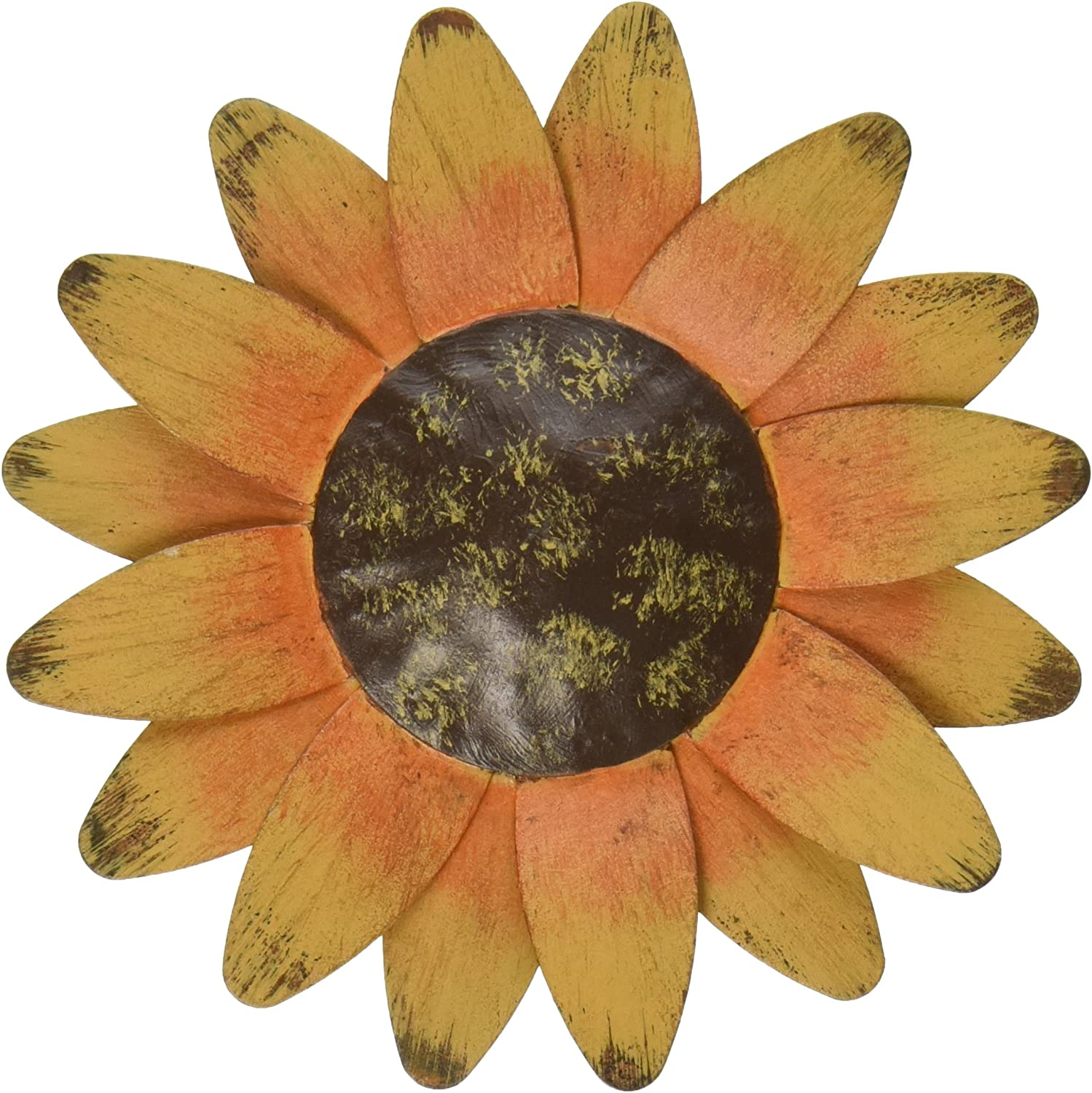 Craft Outlet Tin Sun Flower Magnet, 4-Inch, Set of 4