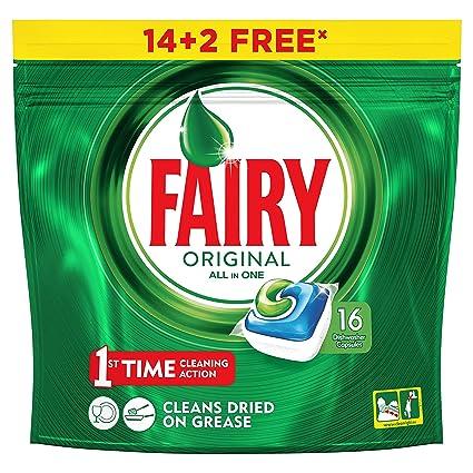 Fairy Original TodoEn1 Cápsulas de Lavavajillas - 14+2 ...