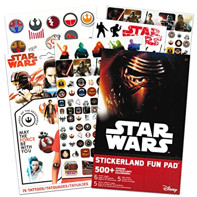 Disney Star Wars Stickers Travel Activity Set with Stickers, Activities, and Temporary Tattoos: Toys & Games