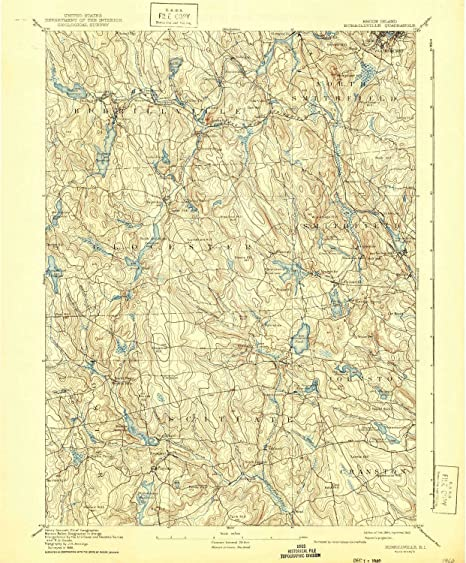 Topographic Map Rhode Island.Amazon Com Yellowmaps Burrillville Ri Topo Map 1 62500 Scale 15
