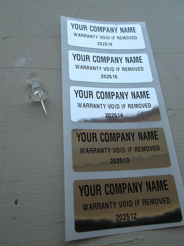 Amazon com 500 custom chrome tamper evident warranty void high