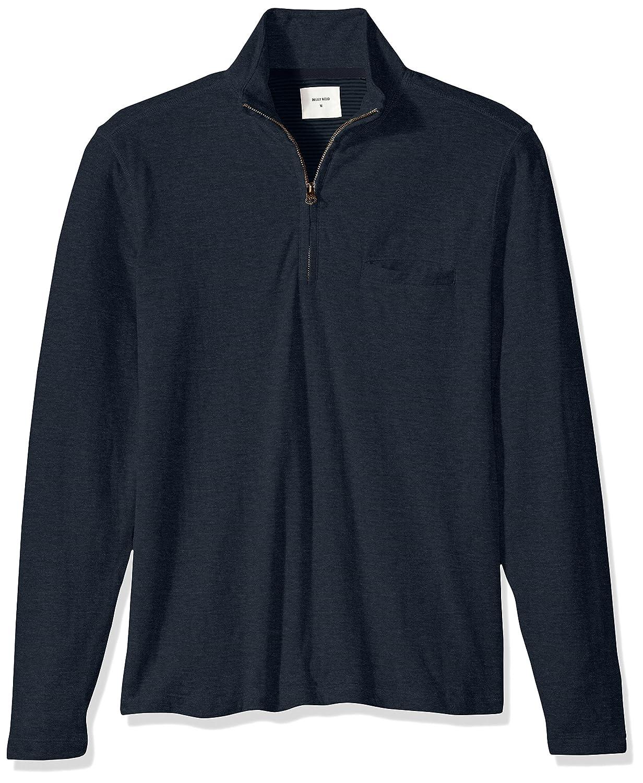 Billy Reid Mens Double Faced Long Sleeve Jordan Half Zip