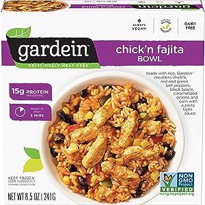 Gardein Single-Serve Plant-Based Chick'n Fajita Bowls, Vegan, Frozen, 8.5 oz.