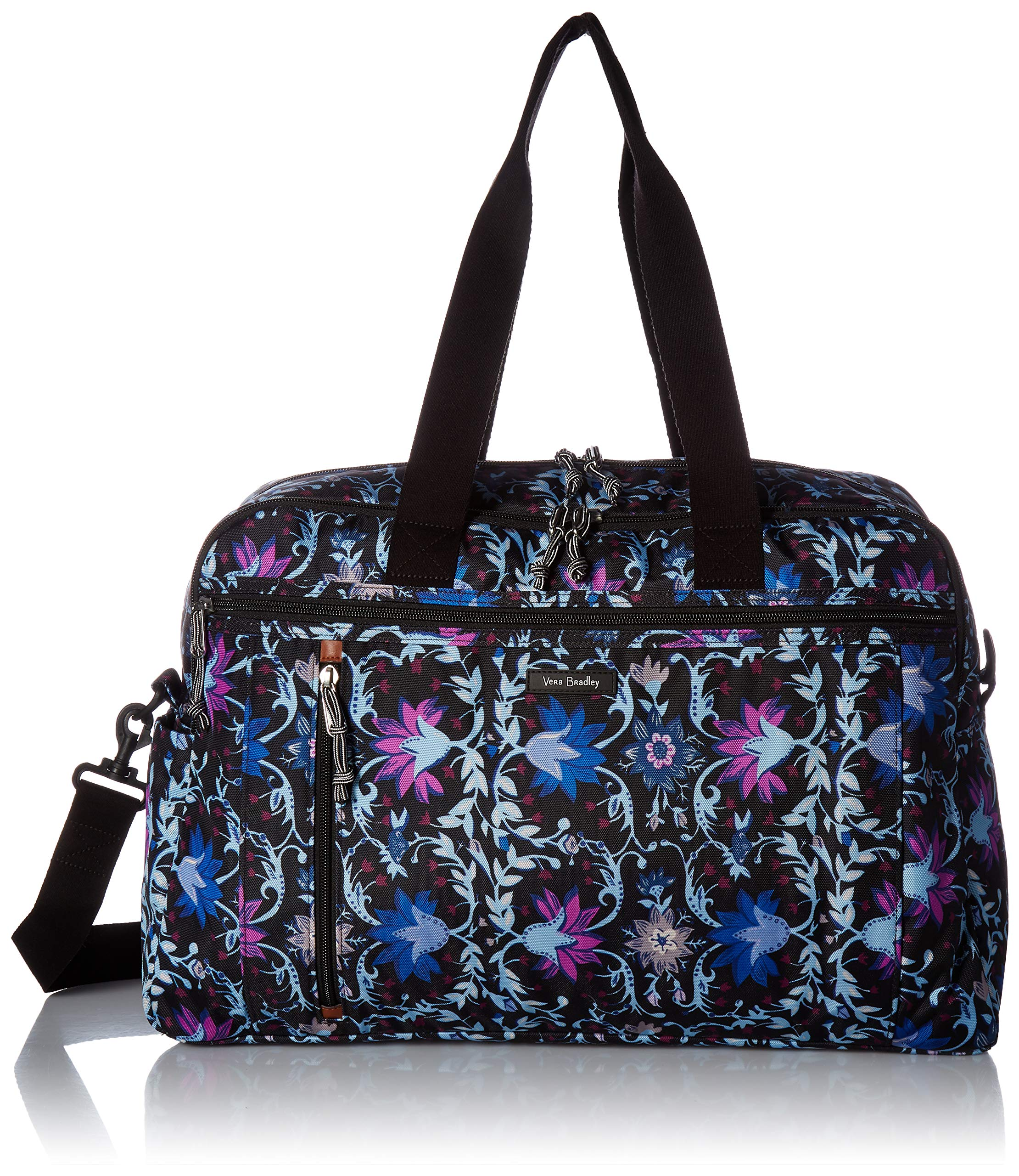 Vera Bradley womens Lighten Up Weekender Travel Bag, Polyester, Bramble Vines, One Size