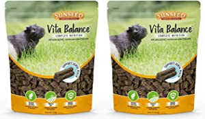 Sunseed 2 Pack of Vita Balance Adult Guinea Pig Food, 4 Pounds Each, All-Natural Pellets
