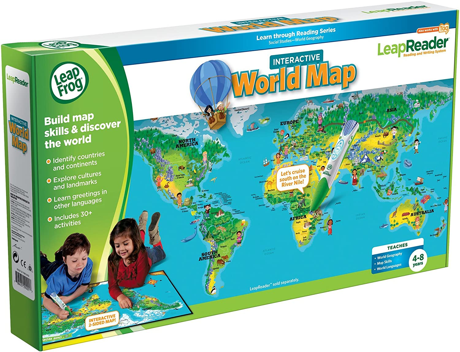 Leapfrog leapreader world map works with tag amazon toys leapfrog leapreader world map works with tag amazon toys games gumiabroncs Gallery