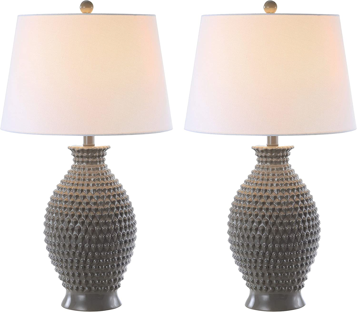 Safavieh Tbl4125a Set2 Lighting Collection Rosten Grey 27 Inch Table Lamp H