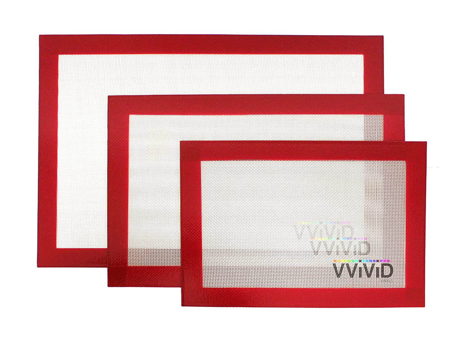 VViViD Non-Stick Silicone Baking Sheet Liners (Combo (M, L & XL) 3 Pack)
