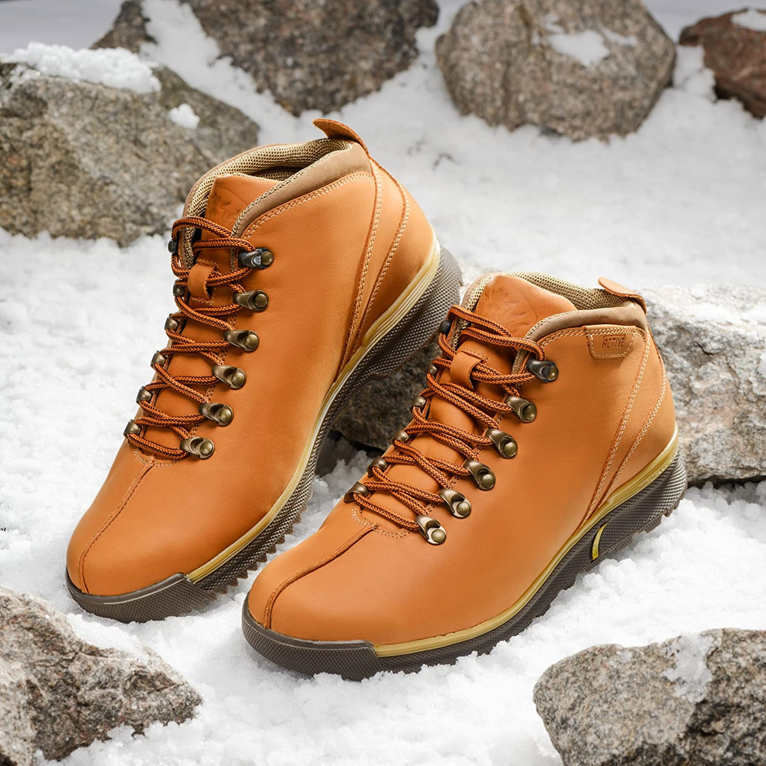MIDA Men's Winter Winter Winter Boots 12210: Leather And Fur Snow Shoes, Abrasion Resistant, Non-Slip OC System Sole, Safety Ice Footwear, Warm And Comfortable B0778PSLKB Snow Boots 99bc89