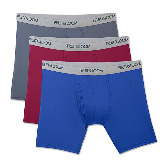 7fa23f9cf9 Fruit of the Loom Men s 3-Pack Everlight Boxer Briefs at Amazon ...