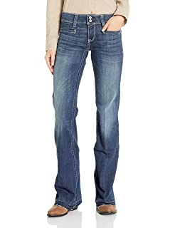 3803acb907254 ARIAT Outseam Ella Wide Leg Trouser Jean at Amazon Women s Jeans store