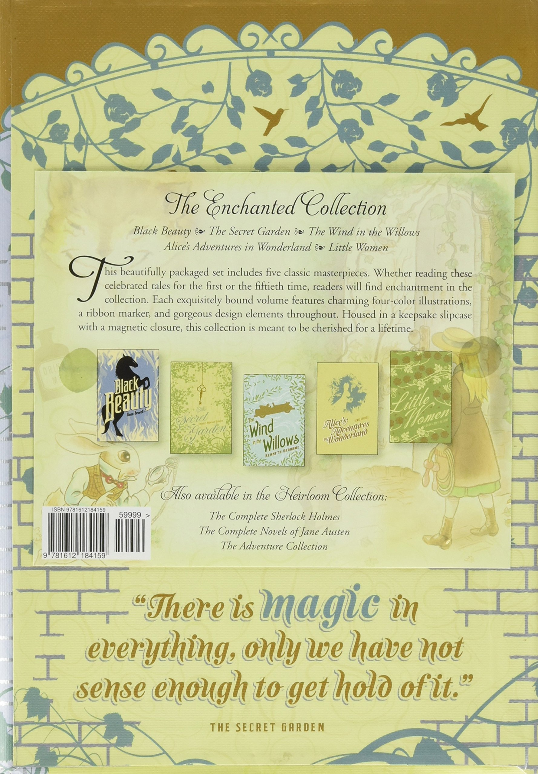 The Enchanted Collection: Alice's Adventures in Wonderland, The Secret Garden, Black Beauty, The Wind in the Willows, Little Women (The Heirloom Collection) by Two Lions (Image #2)