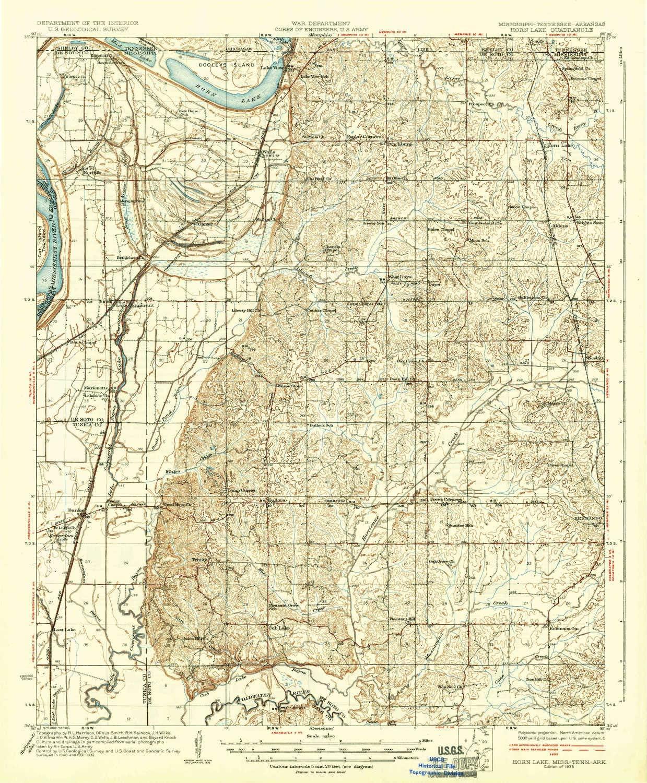 horn lake ms map Amazon Com Yellowmaps Horn Lake Ms Topo Map 1 62500 Scale 15 X horn lake ms map