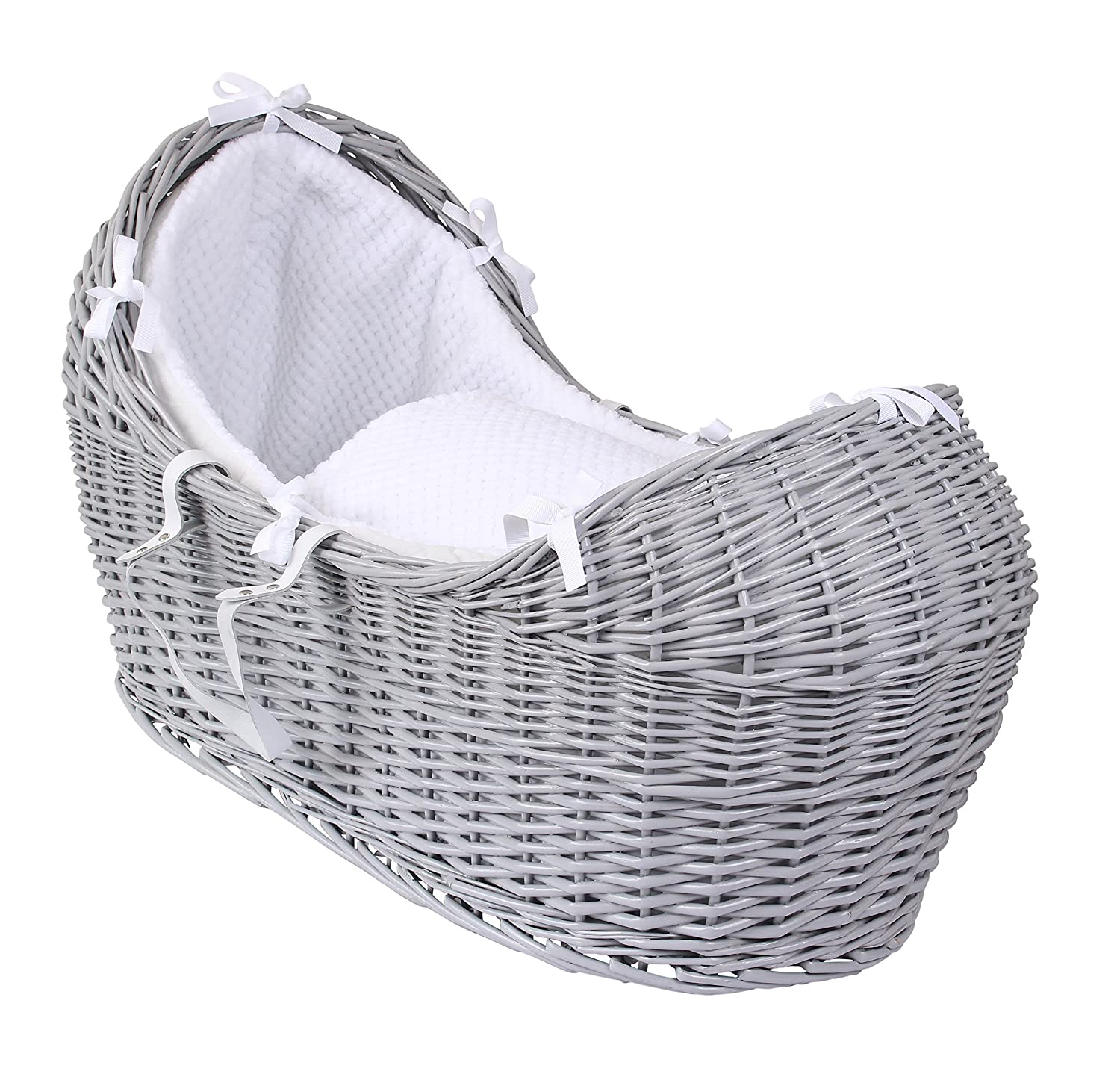 Clair de Lune Honeycomb Grey Wicker Noah Pod, White CL5541GWE
