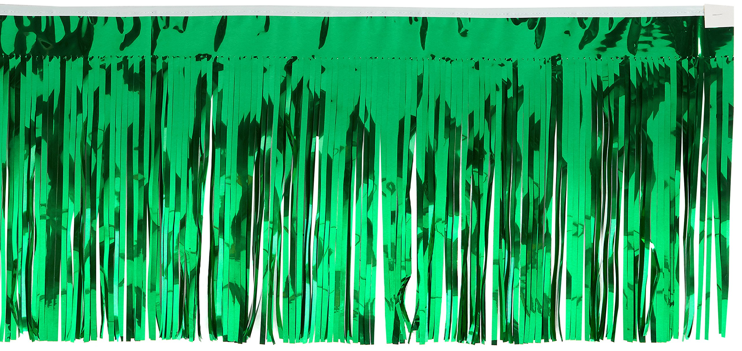2-Ply FR Metallic Fringe Drape (green) Party Accessory  (1 count)
