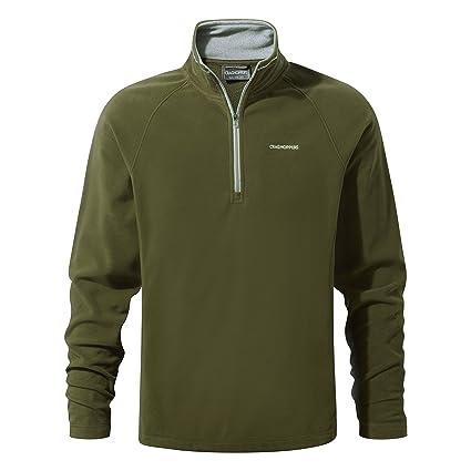 New Craghoppers Mens Selby Half Zip Micro Fleece Mid Layer Jacket S-XL Dark Grey