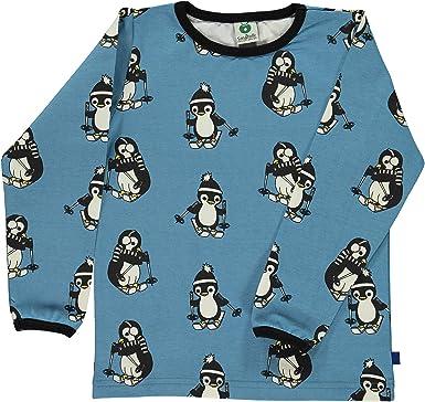 7ebd1a7e Smafolk Long Sleeve Skiing Penguin T-Shirt - Cendre Blue: Amazon.co ...