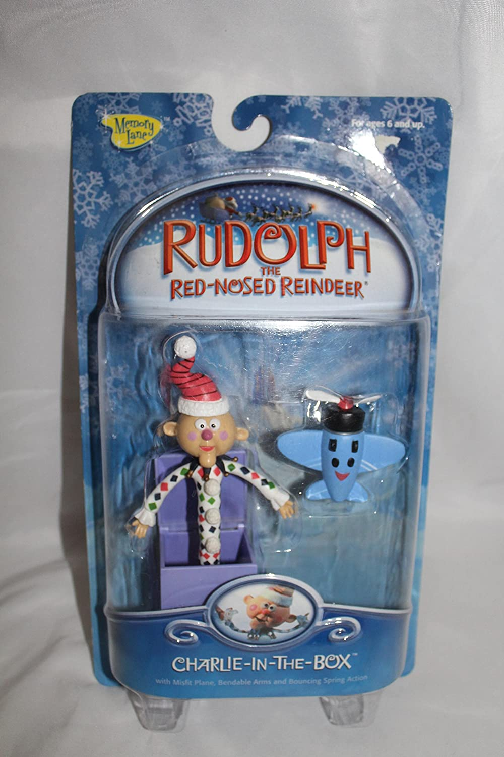 Amazon.com: Rudolph the Red-nosed Reindeer Charlie in the Box Action ...