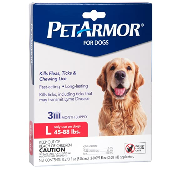 PetArmor Flea & Tick Treatment for Dogs, 45-88 lbs, 3 ct