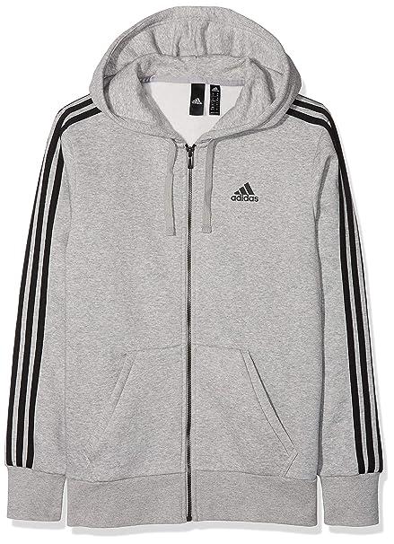 adidas Men's Essential 3 Stripe Full-zip Hoodie: Amazon.co ...