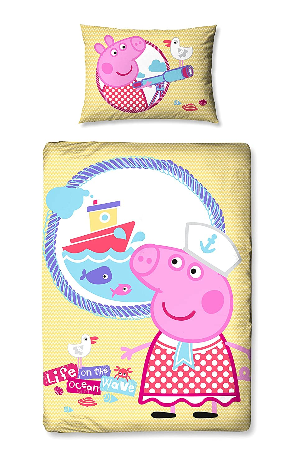 Character World Peppa Pig Nautical Junior Duvet Set PP1NAUDJ001UK3