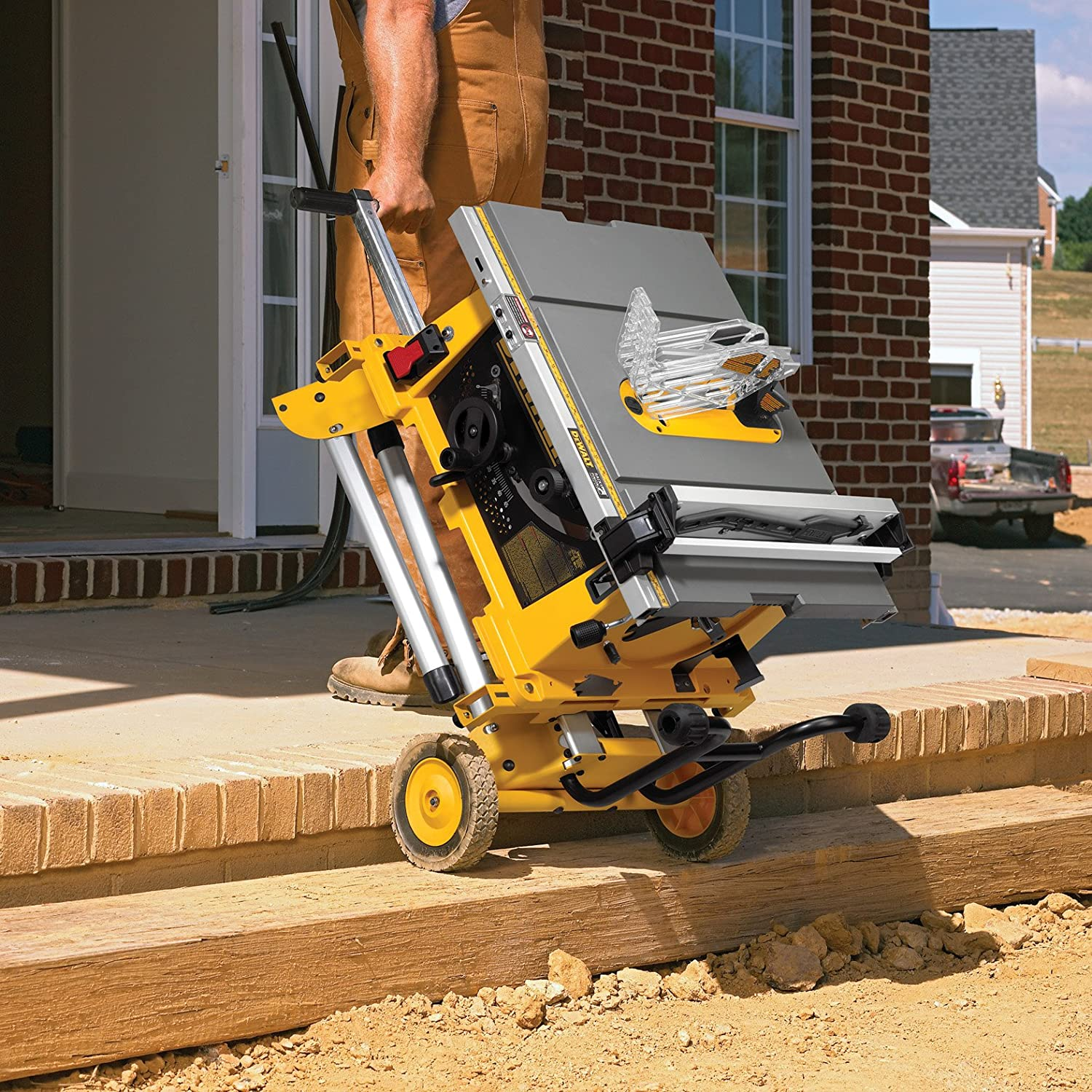 DEWALT DW744XRS 10-inch Job Site Table Saw with Rolling Stand ...