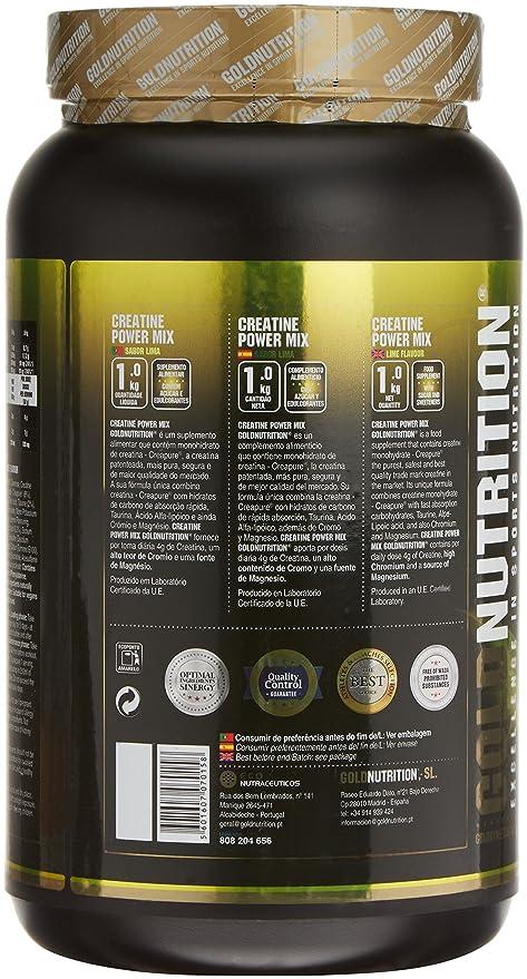 GoldNutrition Creatine Power Mix, Lima/Limón - 1000 gr: Amazon.es: Salud y cuidado personal