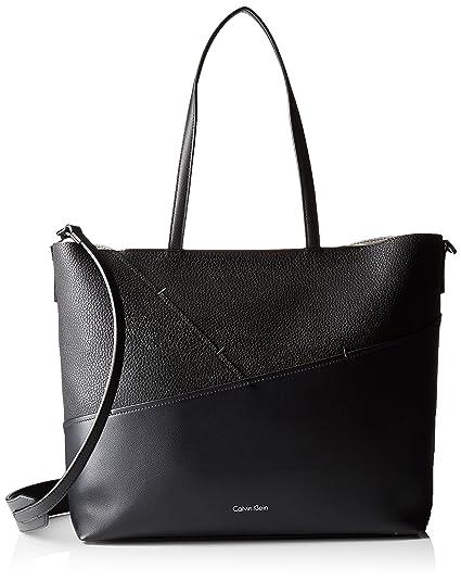 98adbf0aa4 Calvin Klein Womens Luna Medium Tote Sta, 001, Os Canvas and Beach Tote Bag