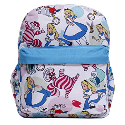 Disney Princess Alice In Wonderland White All-over Print Small Girls' School Backpack | Kids' Backpacks